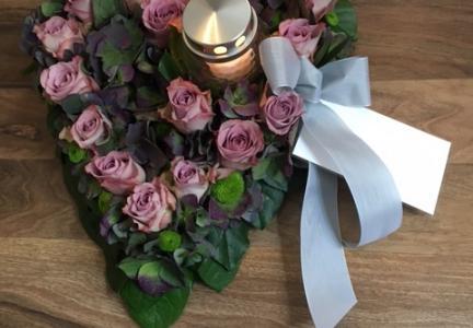 Oasishjärta lila ros