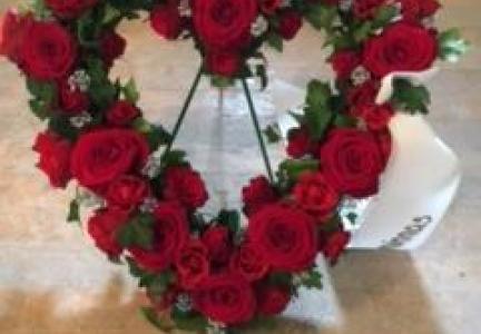 Oasishjärta röd ros